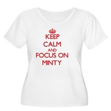 Keep Calm and focus on Minty Plus Size T-Shirt