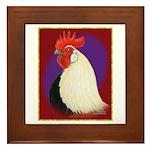 Dutch Bantam Cock Framed Tile