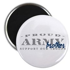 Proud Army Brother (blue) Magnet