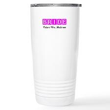 Hot Pink Bride Personalized Travel Mug