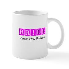 Hot Pink Bride Personalized Mugs