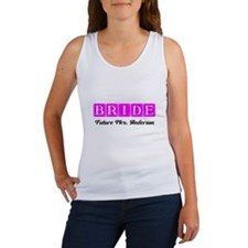 Hot Pink Bride Personalized Tank Top
