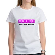 Hot Pink Bride Personalized T-Shirt