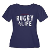 Rugby 4Life Sports Quote Women's Plus Size Scoop N