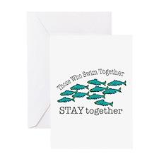 Swim Together Greeting Cards