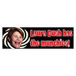 Laura Bush has the Munchies!
