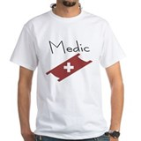 Medic with Stretcher and Cross Shirt