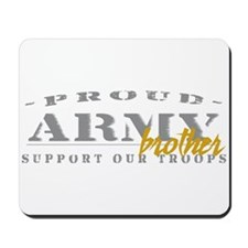 Proud Army Brother (gold) Mousepad