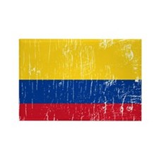Vintage Colombia Rectangle Magnet (100 pack)