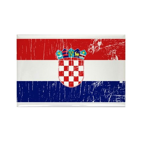 Vintage Croatia Rectangle Magnet (10 pack)