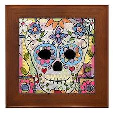 Cute Folk art Framed Tile