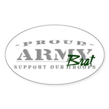 Proud Army Brat (green) Oval Decal