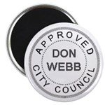"Magnet: ""APPROVED, DON WEBB"""