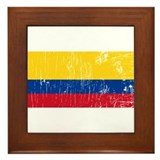 Retro Ecuador Framed Tile