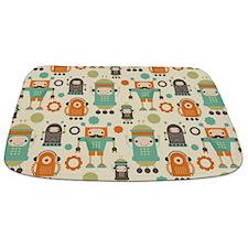 Cute Robot Lover Bathmat