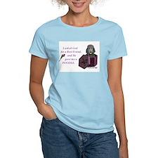I Asked God -GreetingCard -Poodle,Black T-Shirt