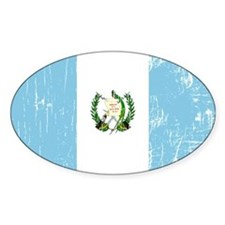 Vintage Guatemala Oval Decal
