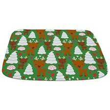 Cute Christmas Reindeer Bathmat