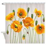 Golden California Poppy Shower Curtain