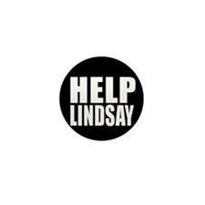 HELP LINDSAY Mini Button