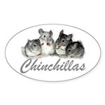 Chinchillas Oval Sticker