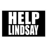 HELP LINDSAY Rectangle Decal