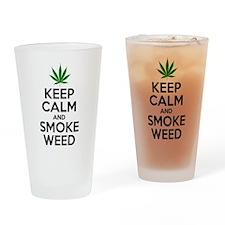 Keep Calm And Smoke Weed Drinking Glass
