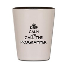 Cool Computer programmer job Shot Glass