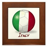 Italy Flag Soccer Ball Framed Tile