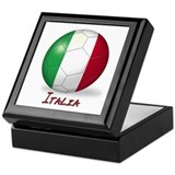 Italia Flag Soccer Ball Keepsake Box