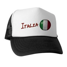Italia Flag Soccer Ball Trucker Hat