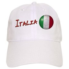 Italia Flag Soccer Ball Baseball Cap