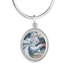 Moon Kitsune Silver Oval Necklace Necklaces