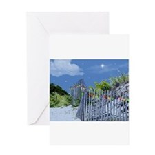 Beach Fence and Dune for Christmas Greeting Cards