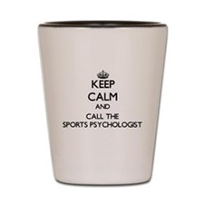 Cute Sports psychologists Shot Glass