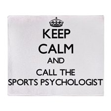 Cute Sports psychologists Throw Blanket