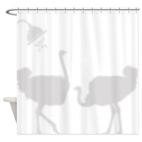 Ostrich Shadow Silhouettes Shower Curtain