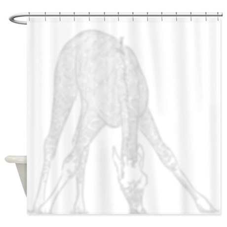 Giraffe Eating Shadow Shower Curtain