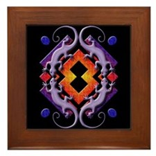 Purple Gecko Ring Framed Tile