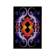 Purple Gecko Ring Rectangle Magnet