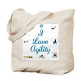 I Love Agility Tote Bag