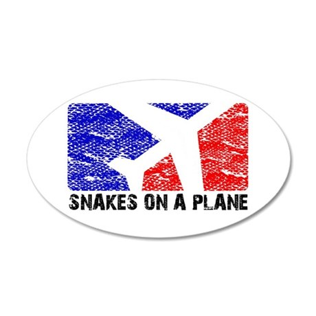 SNAKEONAPLANE.png 20x12 Oval Wall Decal