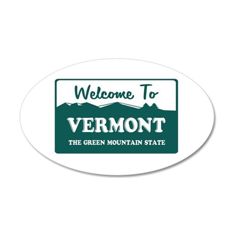 vermont1.png 20x12 Oval Wall Decal