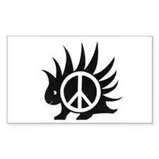 Porcupine Peace Rectangle Decal