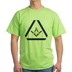 The Masonic Triangle Green T-Shirt
