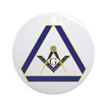 The Masonic Triangle Ornament (Round)