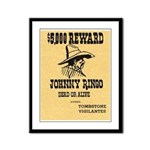 Wanted Johnny Ringo Framed Panel Print