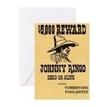 Wanted Johnny Ringo Greeting Cards (Pk of 10)