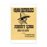 Wanted Johnny Ringo Mini Poster Print