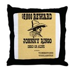 Wanted Johnny Ringo Throw Pillow